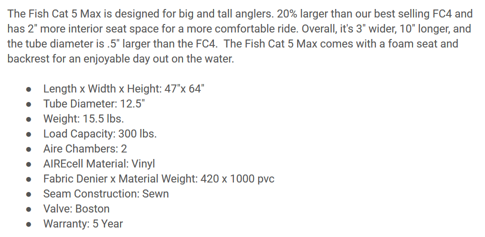 Outcast Fish Cat 5 Max