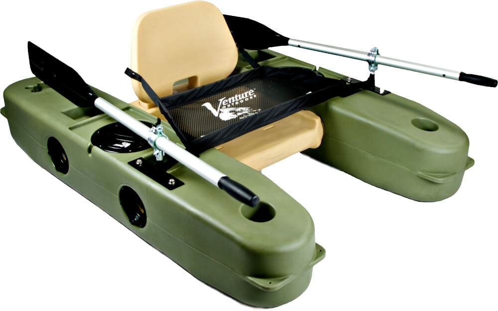 Vomodular 5g rigid kick boat for Fly fishing float tube