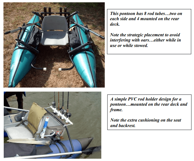 inflatable pontoon rod holders