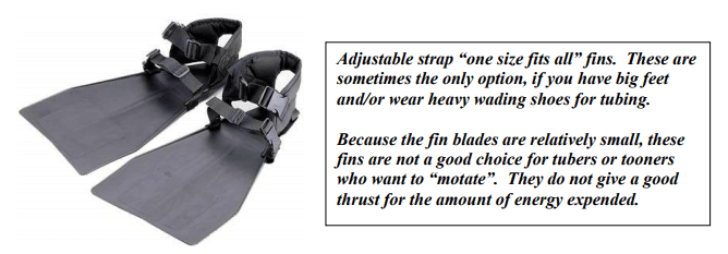 strap float tube fins